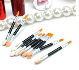 disposable eyeshadow applicators 2021 - Fashion Cosmetic Brushes Women Makeup Eyeshadow Eyeliner Sponge Lip Brush Set Applicator Beauty Double-Ended Disposable