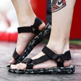 Fiber Loop Australia - Fashion Men Sandals Casual Shoes Gladiator Beach Shoes Leisure Super Fiber Male Flat Sandalias hombre Outdoor Zapatos Hombre