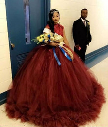 935cd21d342 Quinceanera dresses one shoulder strap online shopping - Burgundy Beads  Appliques Tulle Prom Dresses Dubai Arabic