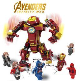 Kids Blocks Wholesale Australia - Fashion avenger model building kits action figures famous Iron man captain America model buildings kids develop intelligence blocks toys