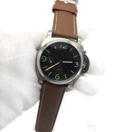 Luxury Brown Leather Watch Australia - Luxury Watch Professional Automatic Mechanical Men Watches Brown Genuine Leather Strap Luminous Dial.