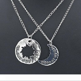 throne pendant NZ - Sun Necklces Game Of Thrones His&Hers Khal Khaleesi Lovers Chain Necklaces Moon Of My Life My Sun & Stars Pendants Exquisite Moon Necklces