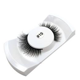34737982065 1 Pair False Eyelashes Natural Makeup 3d Lashes Long Fake Eyelashes Eyelash  Extension Strip Eye Lashes Non Magnet #19
