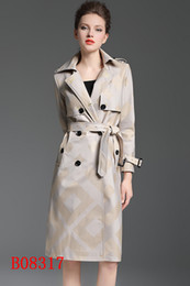 High Fiber Slim Australia - Long-grade high-grade apricot color slim trench coat Double Breasted Coat Jackets Trench Coats Wear Dresses Blouses Shirts T-shirts