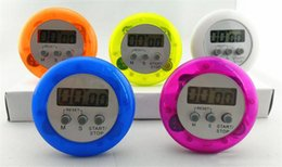 Wholesale New Practical Multi Plastic Kitchen timer Round Electronic Timer Countdown Timers Kitchen Timer dc436