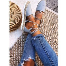 $enCountryForm.capitalKeyWord Australia - Women Snadals Cross Bandage Sandals Flats Sandalias Mujer Women's Shoes Lace up Sandal Plus Size 2019 New