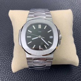 Wholesale Items Sold Australia - black dial silver case and men watch automatic top quality the best version in the market hot selling item good price in stock for wholesale