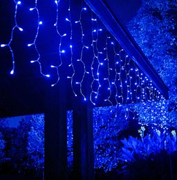 curtain indoor string lights Australia - 16x0.8m 512 LED 8 Modes 24V Safe Xmas Holiday Curtain Icicle String Lights for Christmas Wedding Party Patio Yard Indoor Outdoor Decoration