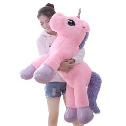 $enCountryForm.capitalKeyWord Australia - 80 60cm Unicorn Plush Toy Soft Stuffed Popular Cartoon Unicorn Dolls Animal Horse Toy High Quality Toys for Children Girls