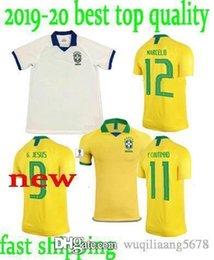 8342a5426 2019 national team Coutinho Gesus Firmino Soccer Jerseys 19 20 Brazil  Futbol Camisa Brasil Football Camisetas Shirt Kit Maillot