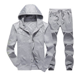 designer long cardigans UK - 2019 Free wholesale high quality Mens Designer Tracksuits Cardigan Jackets Hooded Hoodies Long Pants Sweatsuits Casual Active Print NK Suits
