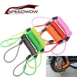 Wholesale Brake Cables Australia - SPEEDWOW Universal 150CM Motorcycle Anti-theft Brake Spring Cable Bicycle Wheel Lock Elastic Safety Reminder Lanyard