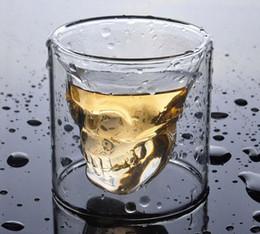 Crystal skull beer mug online shopping - New Drinkware Crystal Skull shape Wine Glasses Drinking Cup ML Skeleton Glass Vaccum Beer Glass Mugs