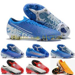 Ingrosso Novità Scarpe da calcio Mercurial Vapors XIII Elite FG Neymar Limited Blue CR7 Shuai Fly maglia 360 Superfly VII Victory Soccer Cleats 39-45