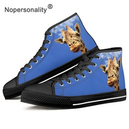 canvas for shoes NZ - Nopersonality Graffe Pattern Vulcanized Shoes Breathable Woman Sneakers Canvas Shoes Women Flat Platform Casual for Ladies