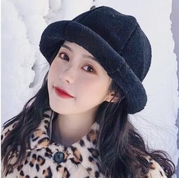 0da132dd0a703 Fisherman hat lamb lamb female autumn and winter Korean version of the wild  Japanese literary network red fashion basin hat female autumn an