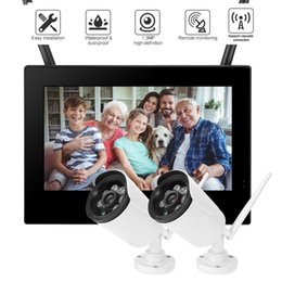 Discount dvr security system wireless cameras - 10in 1.3MP 1280*960 HD Wireless WIFI Baby Monitor 2 Cameras Smart DVR Home Security System