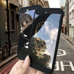 Iron Man Phone Cases Australia - Marvel case for iphone X XS MAX XR 10 8 7 6 6S plus Simple Strokes Iron Man Batman Soft silicone phone cover durable coque capa