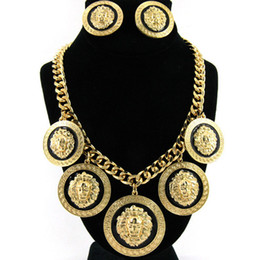 $enCountryForm.capitalKeyWord Australia - Fashion Europe and the United States exaggerated high quality alloy lion head pendant female earrings necklace suit