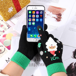 Pattern Decor Australia - Cute Santa Claus Pattern Glove For Christmas Party Decor Touch Screen Five Fingers Gloves Cold Proof Mittens New Arrival 9hr BB