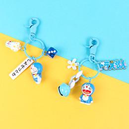18b090ec1 Cute Cartoon Doraemon Keychain Women Girl Toys Leather Strap Metal Key Ring  Chains Car Bag Charm Pendant