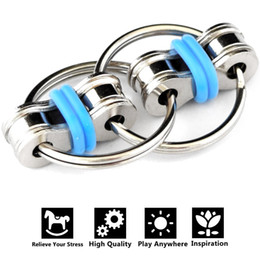 $enCountryForm.capitalKeyWord Australia - 1pcs Party Favors Decompression Chain Fidget Hand Spinner Finger Toys Metal Vent Toy Bike Chain Keychain Key Ring Antistress