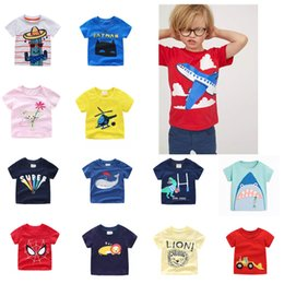 $enCountryForm.capitalKeyWord NZ - Newest INS Baby Designing Summer Infant Cotton Striped Children Boys Girls Tee Cartton Crocodile Giraffe Lion Girls Short Sleeve T-shirts