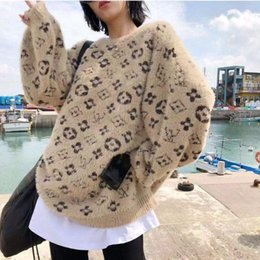 Design fashion web celebrity same style women's sweater sweater coat Europe station printing loose pullover women's sweater s-xl