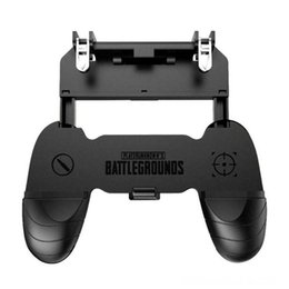 gaming controller accessories UK - W18 Smartphone Gaming Trigger Game Controllers & Joysticks Game Accessories For Pubg Gamepad Fire Button Handle Grip Kit