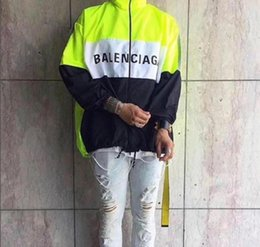 $enCountryForm.capitalKeyWord Australia - Fashion-New pattern mens designer jackets Fluorescent green Patchwork Sunscreen thin coat fear of god windbreaker justin bieber men women h