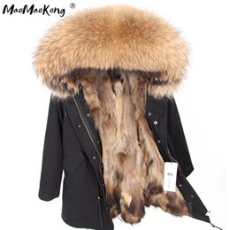 $enCountryForm.capitalKeyWord Australia - Natural fur lining parka Silver pu coat real fur coat winter jacket women natural raccoon collar warm thick parkas