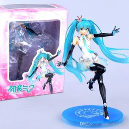 racing miku figure Australia - Volcaloid Hatsune Miku Racing Version the Second Generation 20CM Boxed Gift PVC Action Figure Sexy Girl Collectible Model