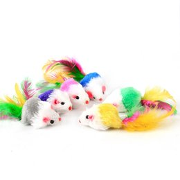 Funny Play Toys Mouse NZ - fat cat toysLovely Mouse for Cat Dogs Funny Fun playing contain catnip toys Pet supplies Mixed color 100pcs lot IC503