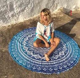 $enCountryForm.capitalKeyWord Australia - Indian Mandala Beach Towel Round Beach Blanket Microfiber Printing Tapestry Bath Towels Yoga Mat Summer Picnic Rug 12 Designs 140cm Sale