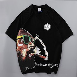 $enCountryForm.capitalKeyWord Australia - Mens Designer T-shirts 2019 New Fashion Casual Cartoon Digital Printing Tops Breathable Quick Dry Loose Pullover Tees Asian Size M-XL