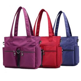 $enCountryForm.capitalKeyWord Australia - Women Top-handle Shoulder Bag Brand Large Capacity Handbag Nylon Female Casual Shopping Tote Crossbody Bag Messenger Bags