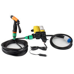 Portable Car Washing Pump UK - Portable 12V 100W 160PSI Car Clean Electric Washer Wash Water Pump