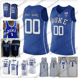 ce01052cc8a7 Custom Duke Blue Devils 2019 Basketball black royal white Any Name Number 3  Tre Jones Reddish Williamson Barrett Bolden O Connell Jerseys