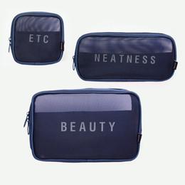 $enCountryForm.capitalKeyWord UK - 10PCS   LOT Cosmetic Bag Nylon Net Travel Makeup Dressing Box Women Men Storage Bag Large Capacity Wash Bag