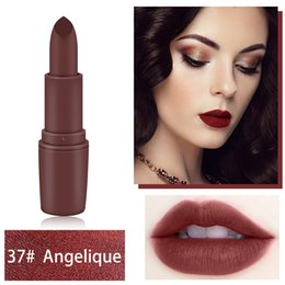 Longer Lasting Lipstick NZ - Lipstick matte red lipstick Waterproof Long Lasting Lip Cosmetic Beauty Sexy Red Brown Pigments Makeup Matte Lipsticks Beauty