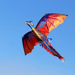 3D Dragon Kite Single Line With Tail Kites Outdoor Fun Toy Kite Family Outdoor Sports Toy Children Kids Dinosaur Kite on Sale