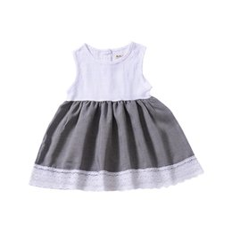 077407468f6b2 Cute year old girls Clothes online shopping - Children Clothing Patchwork  Dress for Kids Summer Vest
