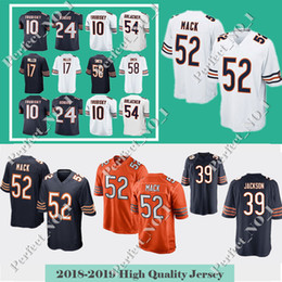 52 Khalil Mack 39 Eddie Jackson Men Chicago Jersey Bear 10 Mitchell  Trubisky 58 Roquan Smith 24 Howard 17 Miller jerseys bdb228054