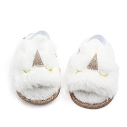 $enCountryForm.capitalKeyWord UK - New Baby Fur sandals 2019 summer Fashion Kids unicorn cat panda Slippers infant First Walkers newborn Walkers shoes