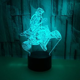 $enCountryForm.capitalKeyWord Australia - Pattern Motorcycle Colorful Touch Remote Control 3d Small Night-light Originality Three-dimensional Three-dimensional 3d Small Desk Lamp