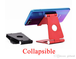 Adjustable Metal Stand For Tablet Australia - Aluminum Alloy Mobile Phone Bracket Live Adjustable Metal Desktop Tablet Universal Mobile Phone Lazy Bracket Common Stand for Computer