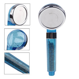 Spa Head NZ - 1PC Hand Shower Bathroom SPA Anion Water-saving Handheld Rain Shower Head Nozzle With 2 Colors Round Plastic Showerhead