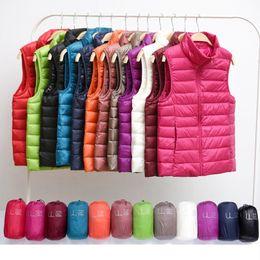 Plus Size Winter Vests Australia - Winter Women Down Vest Fashion Female Sleeveless Vest Jacket Warm Down Jacket Plus Size Women Sleeveless Jackets Size S-XXXL