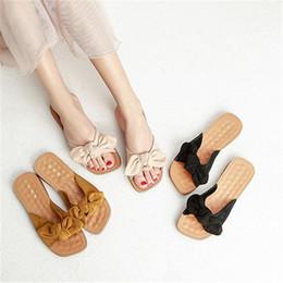 comfortable ladies sandals 2019 - 2019 Women Beach Yellow Luxury Design Slippers Sandals Lady Mules Pumps Comfortable Shales Sweet Summer Platform Shoes X