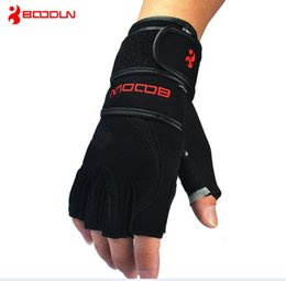 $enCountryForm.capitalKeyWord Australia - Wholesale-Hot sale Long Wristband Cuff Grip Glove Fitness Sports Mitten Training Leather Long Wrist Belt Weight Lifting Gym Gloves